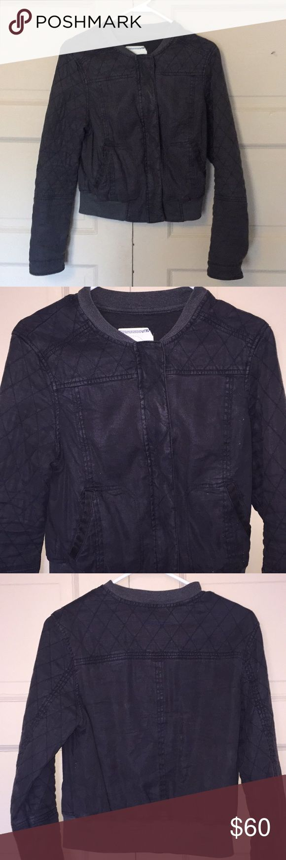 Anthropologie Hei Hei Grey Bomber Grey bomber jacket from Anthropologie. Size Medium. This jacket is in excellent condition. Beautiful charcoal grey goes with anything and is great for any season! Anthropologie Jackets & Coats