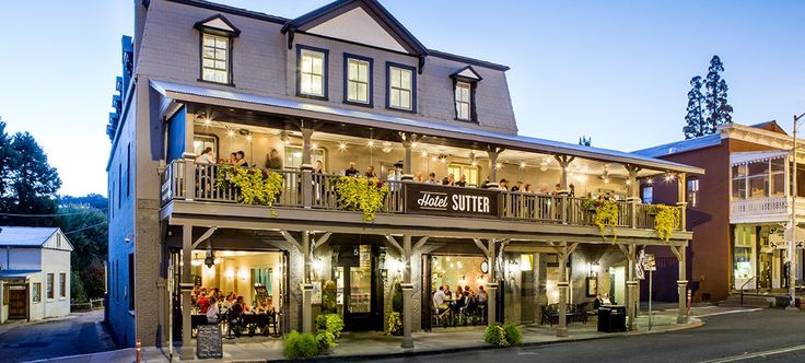 Hotels in Sutter Creek, CAl looks like a good spot near Napa
