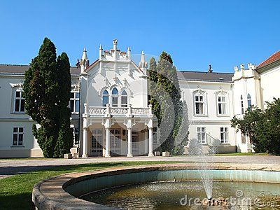 Castle in city of Martonvasar, Hungary