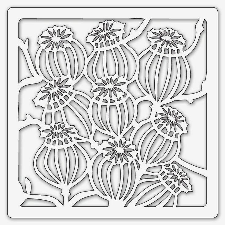 seed pod Stencils | Honesty Stencil Pods Stencil