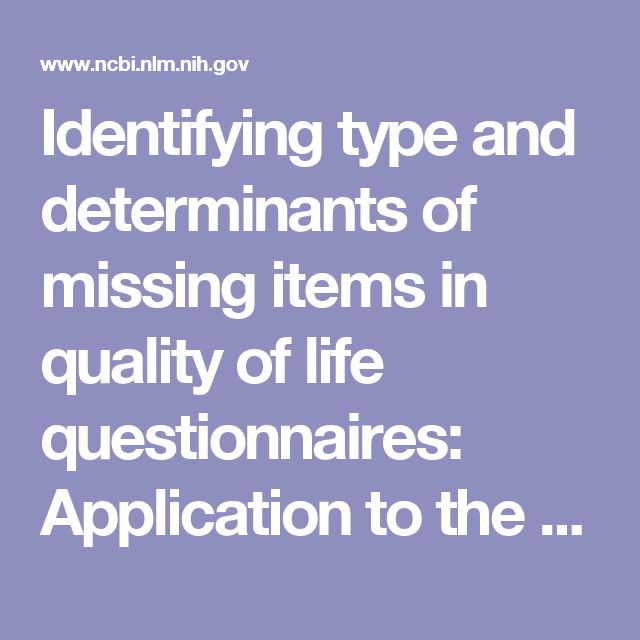 Identifying type and determinants of missing items in quality of life questionnaires: Application to the SF-36 French version of the 2003 Decennial Health Survey