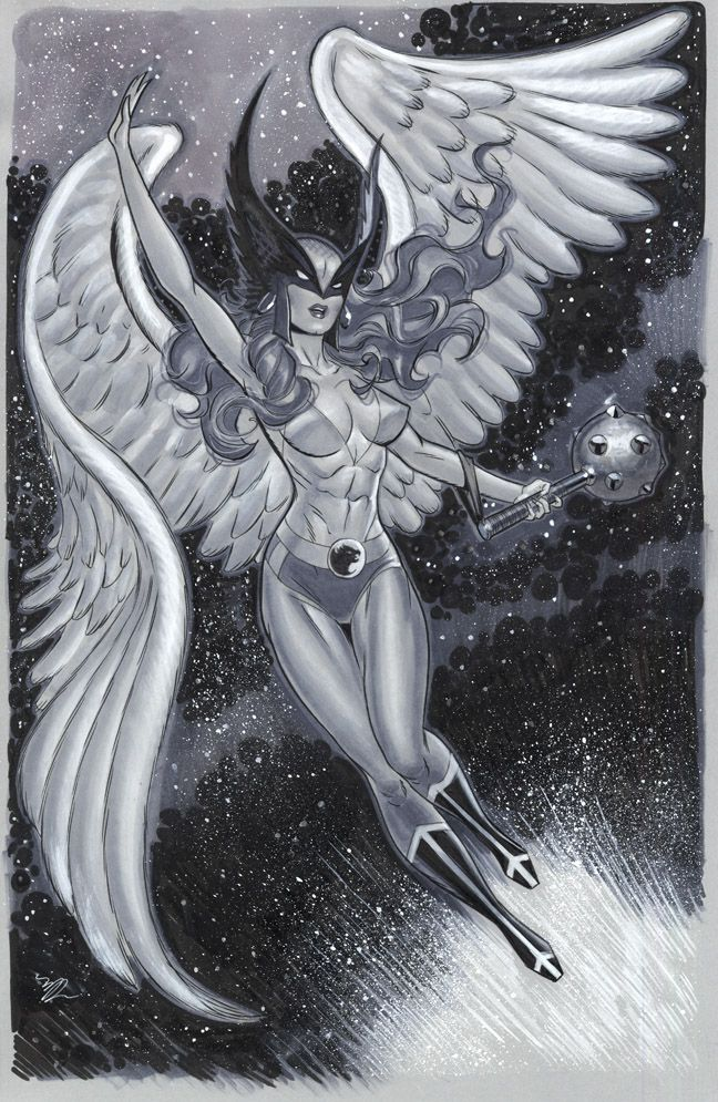 Big Hawkgirl NYCC 2014 by MichaelDooney on deviantART