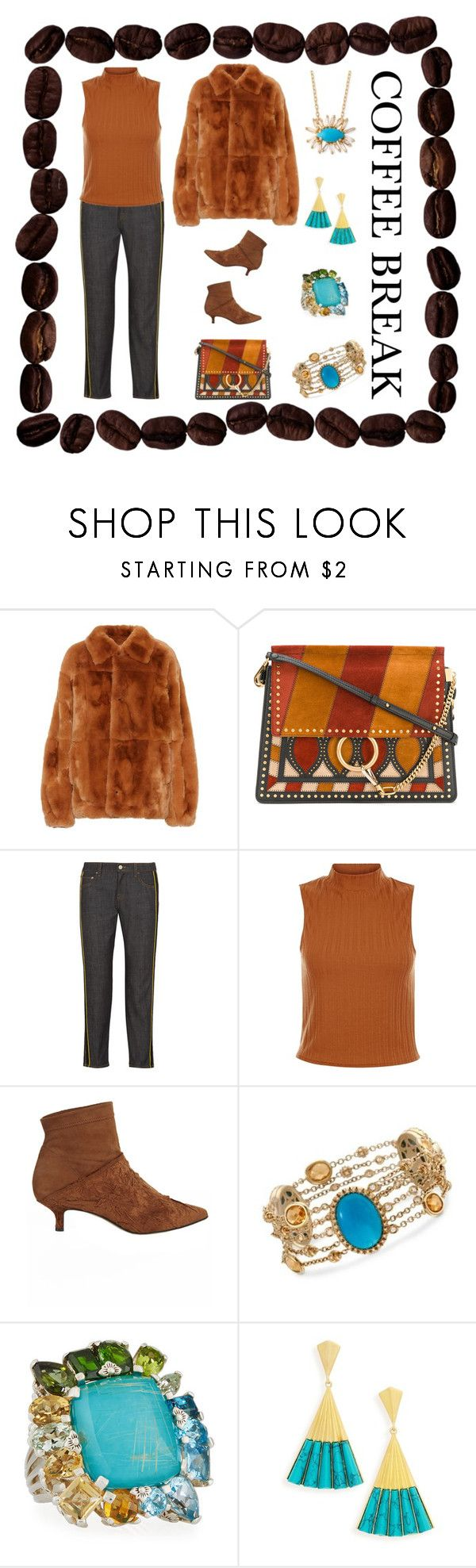 """Caffeine Fix: Coffee Break"" by karen-galves ❤ liked on Polyvore featuring Chloé, Victoria, Victoria Beckham, TIBI, Ross-Simons, Stephen Dweck, Dean Davidson, Suzanne Kalan and coffeebreak"