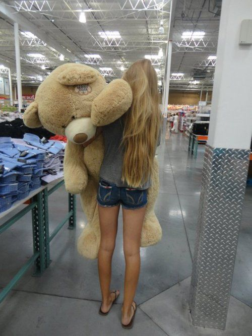 as a little kid you always wanted that giant stuffed animal...who am I kidding I still want one!