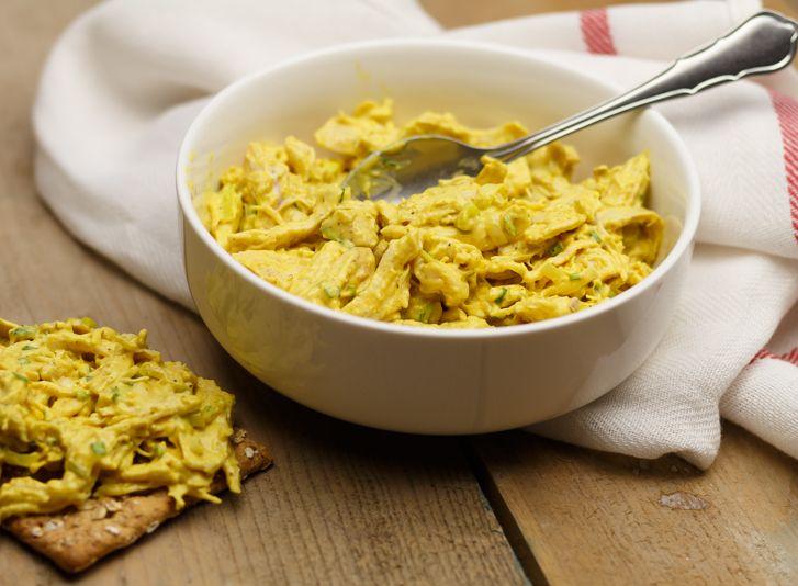 Kip kerrie salade recept