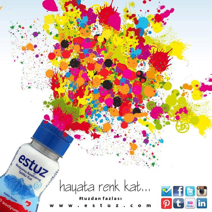 ...hayata renk kat... #tuzdanfazlası #estuz #tuz #salt #saltofturkey #renk #colour #sodyumuazaltılmıştuz #iyotlutuz
