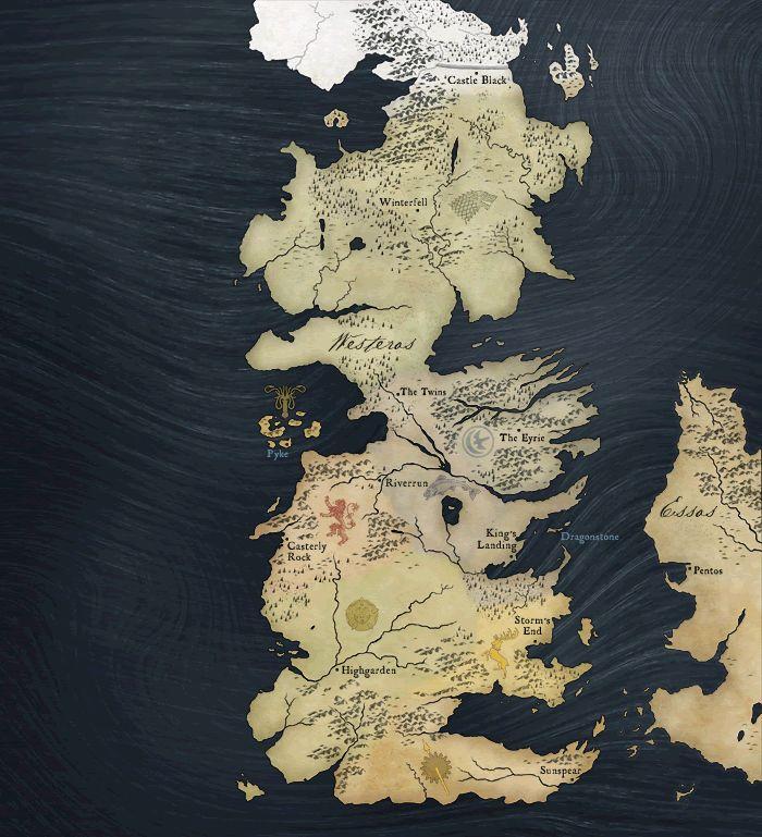 Mapa de Game of Thrones