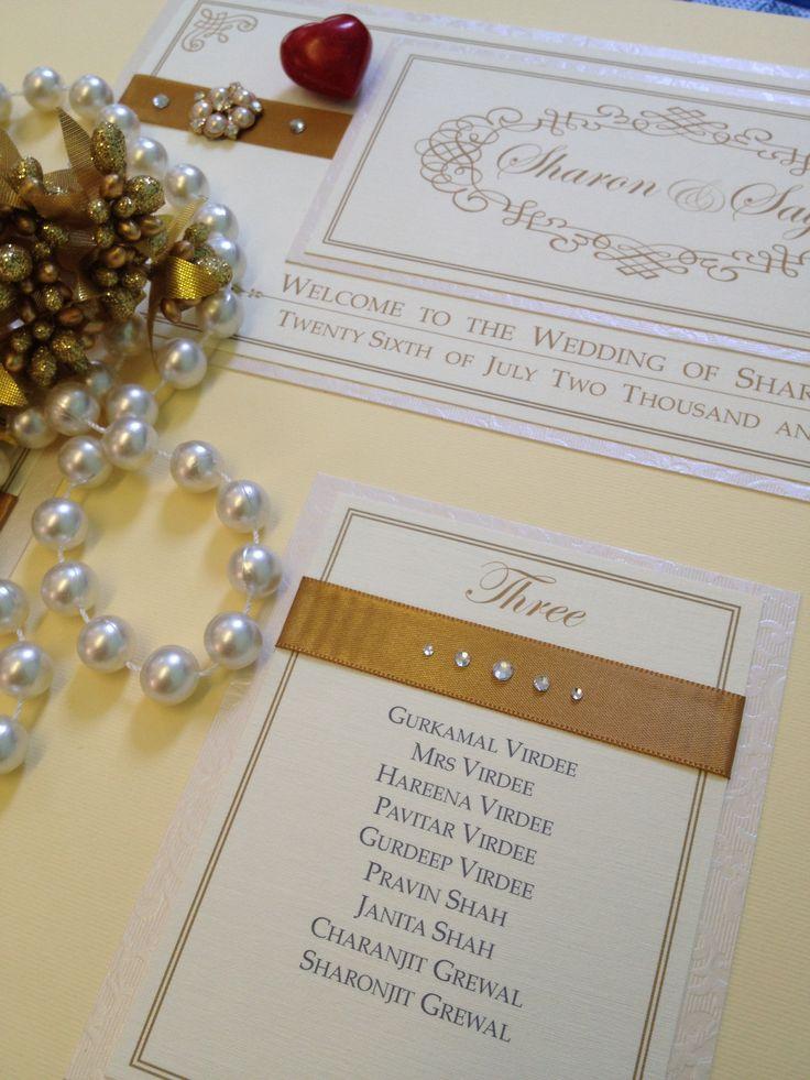Bespoke vintage gold luxury tableplan handmade by Perfect Day Weddings London www.perfectday-weddings.co.uk