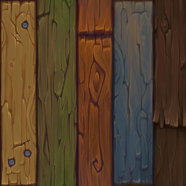 Wood/Rock Textures w/ Process, Becca Hallstedt on ArtStation at https://www.artstation.com/artwork/JB5bd