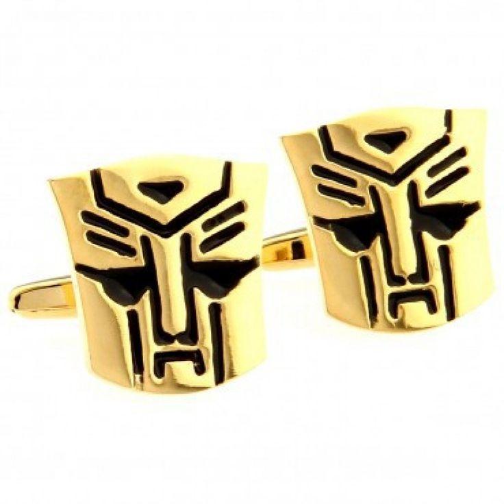 golden robot face #Cufflinks #cufflinkspalace