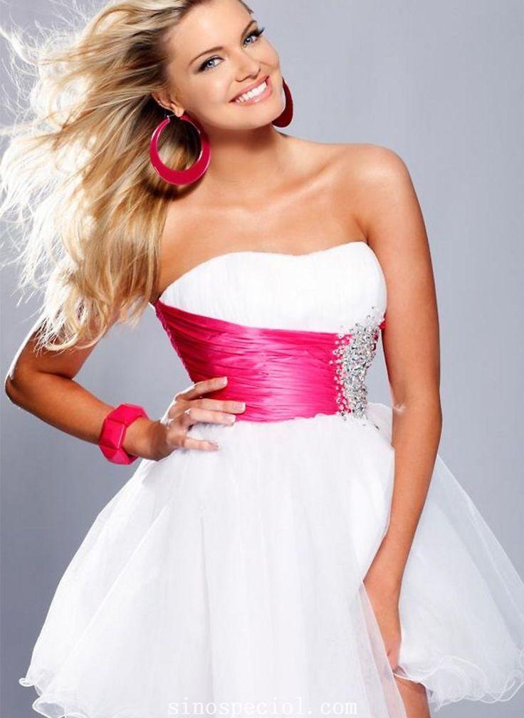 Elegant Ball Gown Scoop Neckline Empire Mini Sequins Organza Cocktail Dress