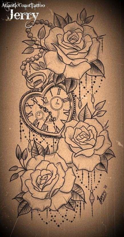 35 Ideas tattoo thigh hip pocket watches – #hip #Ideas #Pocket #tattoo #Thigh #w…