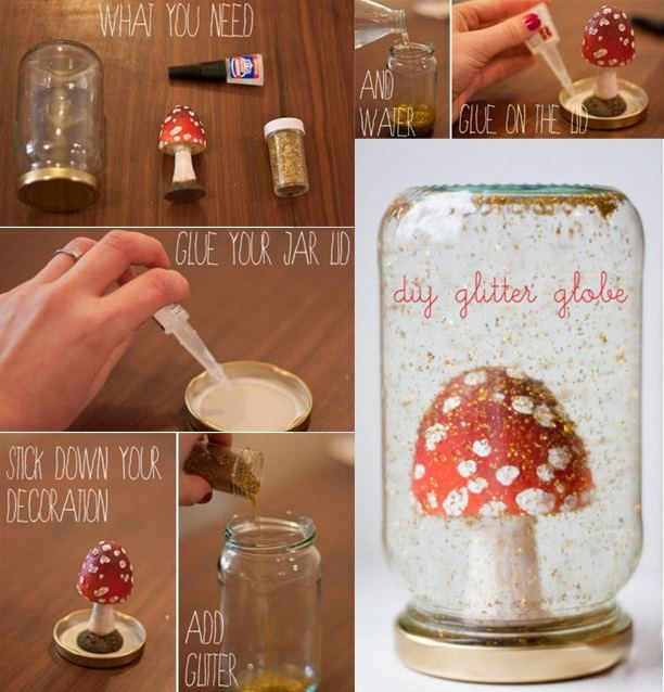 How to make a glass ball crafts also make mini bottle for Glass bottle gift ideas