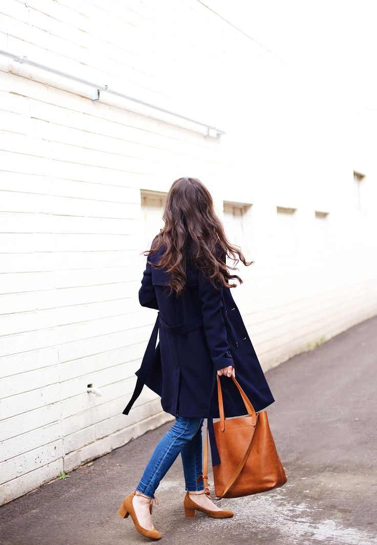 New Darlings - Classic French Girl Style with Sezane and Liketoknow.it - Nay Trench Front Button Jeans - Madewell Tote
