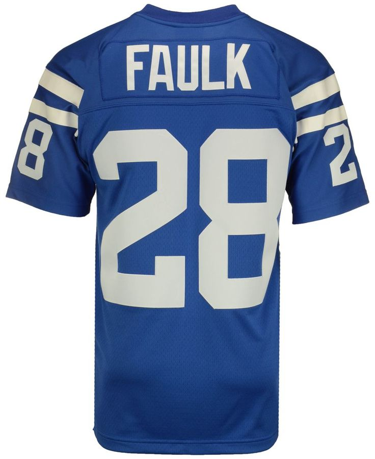 Mitchell and Ness Men's Marshall Faulk Indianapolis Colts Replica Throwback Jersey