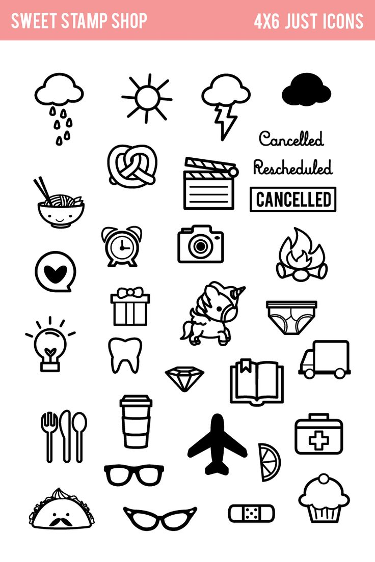 planner icons - Google Search