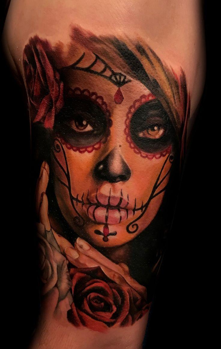 Day of the dead tattoo by jose carlos best tattoo artist