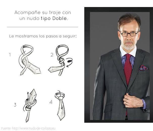 Acompañe su traje con un nudo tipo doble, estos son los pasos que debe seguir. #Tutorial #Tie #Suit #MenStyle #MenFashion