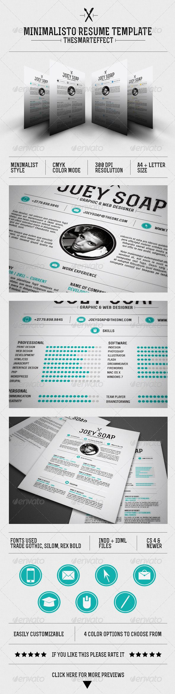 Minimalisto Resume Template 9 best cv design