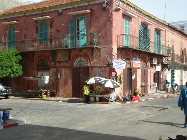 Old colonial style house in Saint-Louis, Senegal