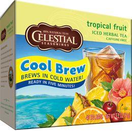 Tropical Fruit Cool Brew Iced Tea | Celestial Seasonings | My Tea ...