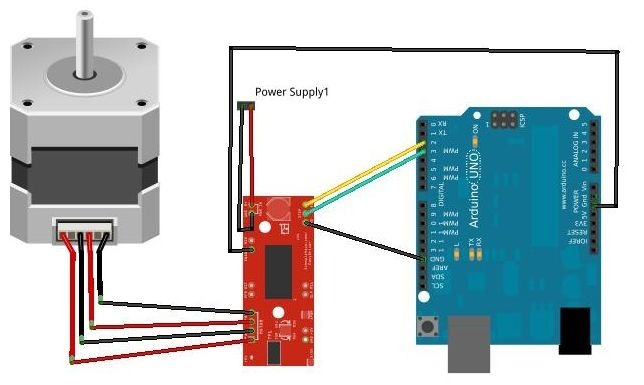 Tutorial: Stepper Motor + Easy Driver + Arduino – GarageLab (arduino, electronics, robotics, hacking)