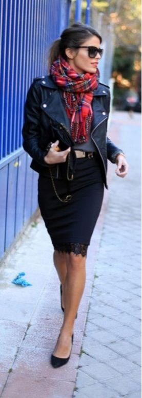 Edgy chic - Love this outfit!