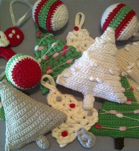 Navidadcolgantesmamai a crochet pinterest crochet - Adornos colgantes de navidad ...