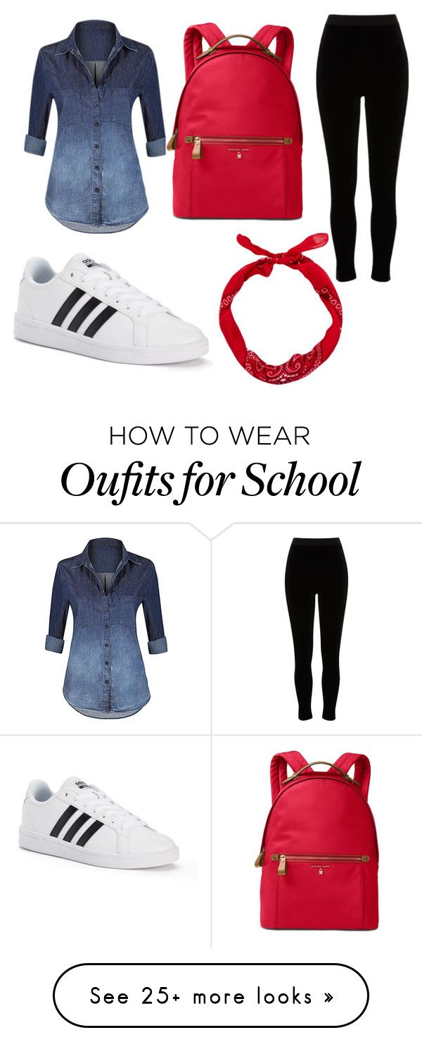 """School Outfit"" by michelle0123 on Polyvore featuring Hot from Hollywood, adidas, Michael Kors and River Island"