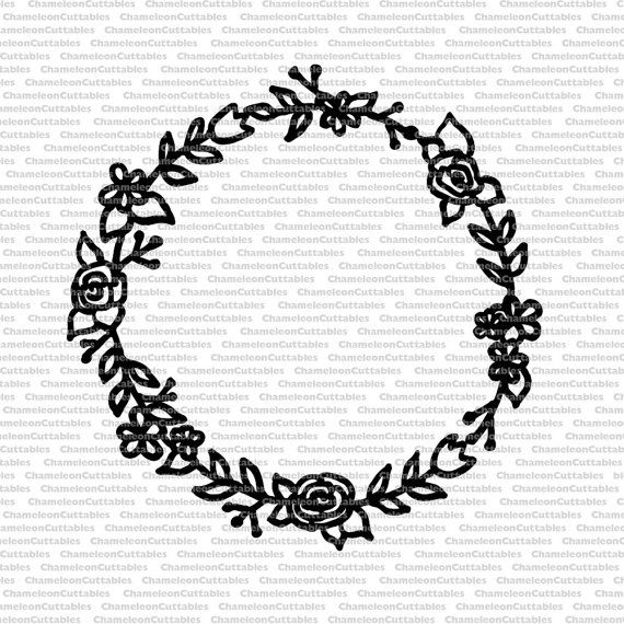 Rose Wreath Drawing