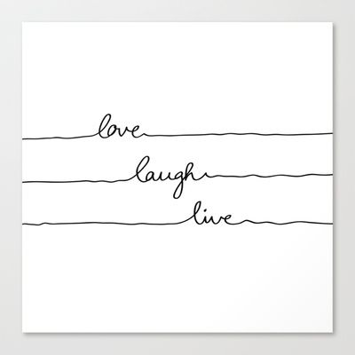 Love Laugh Live Stretched Canvas by Mareike Böhmer