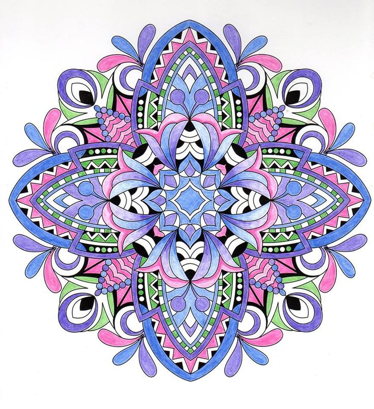 ColorIt Mandalas to Color Volume 1 Colorist: Santa Carbaugh #adultcoloring #coloringforadults #mandalas #mandala #coloringpages