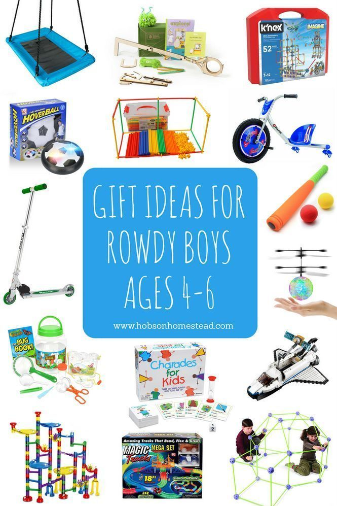 15 Gift Ideas for Rowdy Boys, Ages 4-6 | Christmas gifts ...