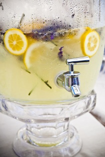 lemonade w/ sliced lemons & lavender