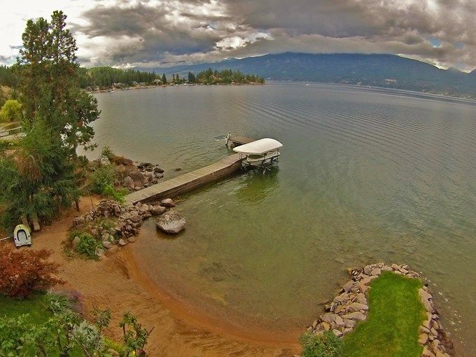 Home for Sale - 9623 SW Whitepoint RD, Vernon, BC V1H 1K8 - MLS® ID 10087977.  Lake front property for sale in BC.  Vernon, Okanagan, Kelowna land for sale. private lake-shore with a beautiful red sandy beach, which offers pristine waters on the amazing Okanagan Lake. A must see as this 3000 square foot home has a natural park like setting