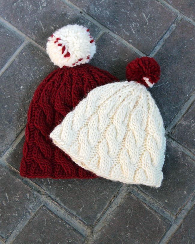 242 best knitting patterns images on pinterest christmas knitting make an adorable cable knit beanie for winter with this free pattern that comes in adult dt1010fo