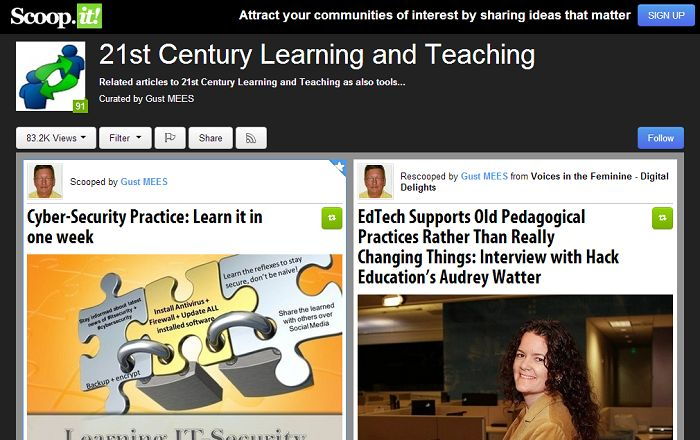 """All of these sites focus on learning and curation, but could one of them really be the """"Pinterestof education""""?"""