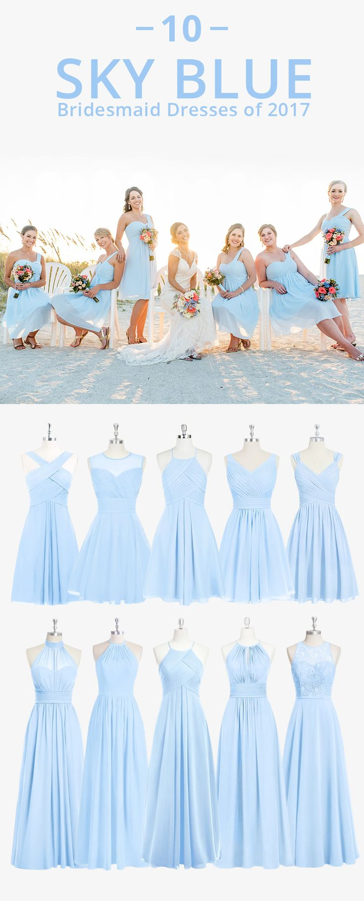 Dress your bridesmaids in this angelic light blue! Available in sizes 0-30 and free custom sizing! Every woman deserves their dream dress, that fits right while still being budget friendly!