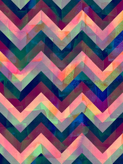 Painted Chevron Art Print by Schatzibrown #chevron