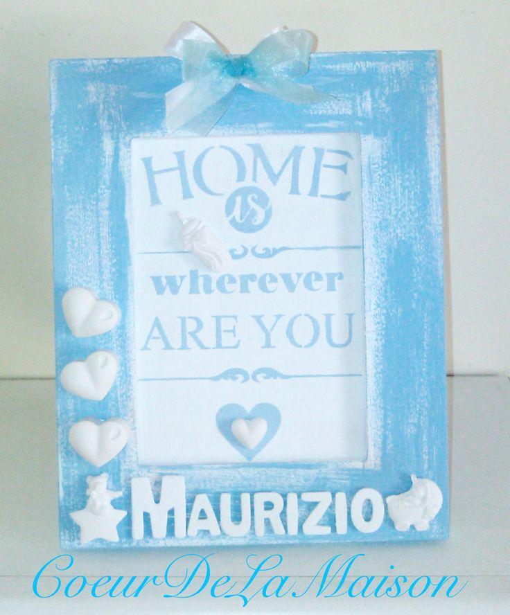 """Tenera idea regalo nascita/battesimo """"Casa è ovunque sei tu"""" personalizzabile con il nome del neonato"""