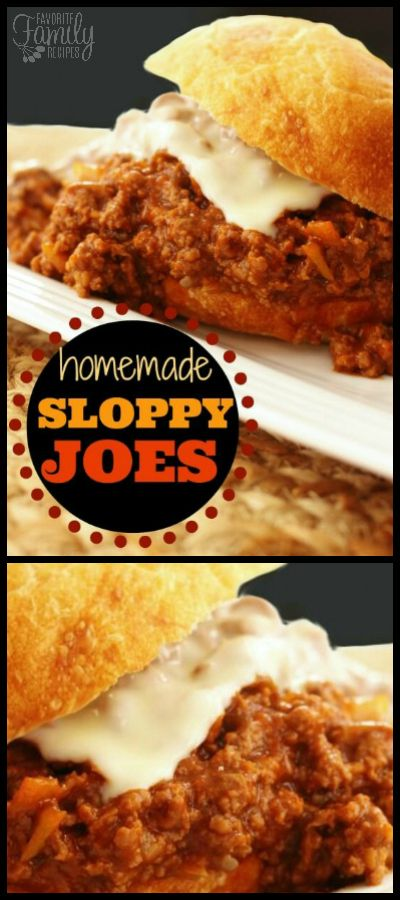 These flavor-packed Homemade Sloppy Joes put the canned version to shame. They're great for a quick weeknight meal or any potluck or picnic. via @favfamilyrecipz