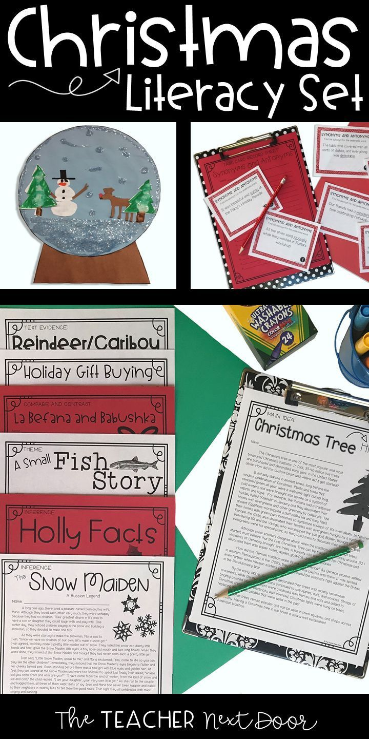The Christmas Literacy Set Is A 57 Page Set Filled With Academic But Engaging Re Christmas Literacy Christmas Writing Activities Classroom Christmas Activities