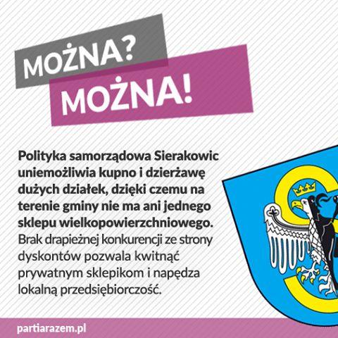"""Polska pozostaje jednym z nielicznych krajów UE, w którym prawo nie reguluje rozrostu sieci handlowych, zwłaszcza dyskontów, które niszczą lokalne rynki. Gmina Sierakowice znalazła sposób, aby temu zaradzić - stawia na małe sklepiki. """"Dyskontów nie chcemy, bo zależy nam na tym, by nie rosło bezrobocie. Dziś wynosi ono w naszej gminie 8%, czyli sporo mniej niż średnia wojewódzka. A dzieje się tak także dlatego, że spora część mieszkańców pracuje w lokalnych sklepach. Nawet największy dyskont…"""