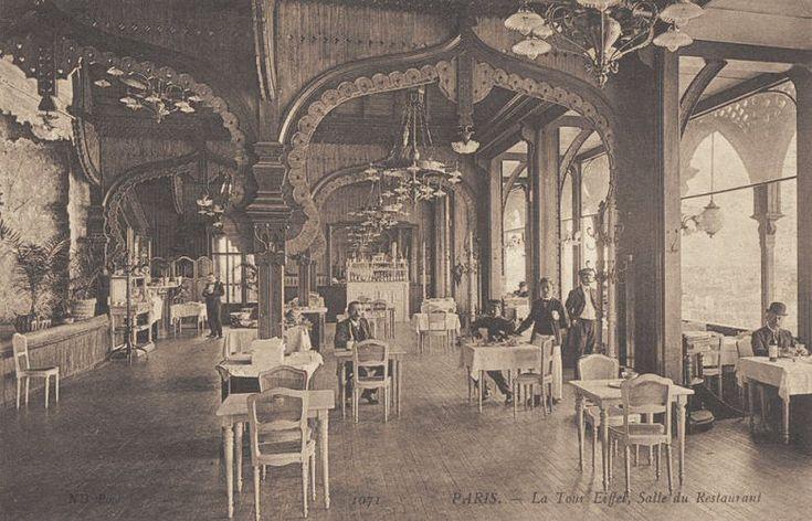La salle du restaurant de la Tour Eiffel.