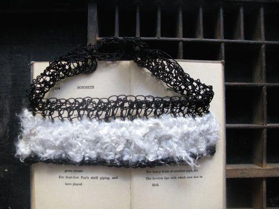 Choker necklace crochet choker silk yarn yarn by WearitCrochet