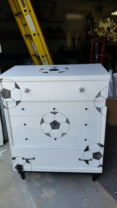 Soccer themed dresser