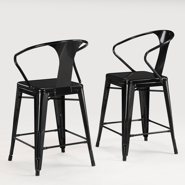 Tabouret Black with Back 30-inch Bar Stools (Set of 2) $219.99 & 24 best 30 Inch Bar Stools images on Pinterest | 30 inch bar ... islam-shia.org