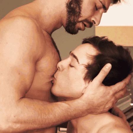 Huges tits breast feeding man