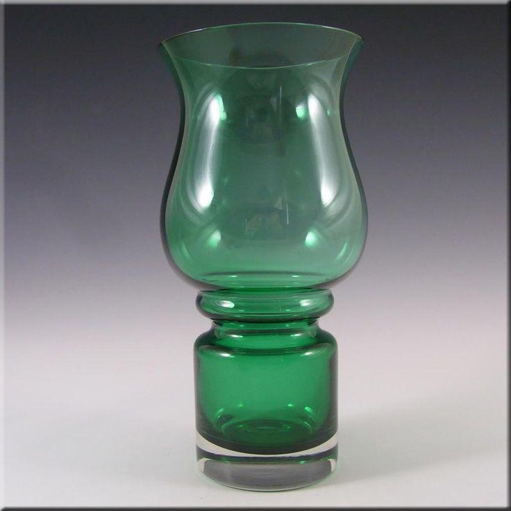 Riihimaki/Riihimaen Green Glass 'Tulppaani' Vase #1512 - £30.00