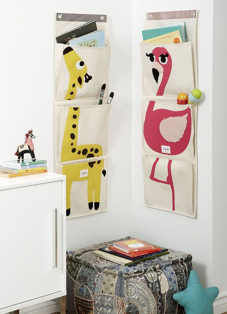 3 Sprouts Flamingo Wall Organiser